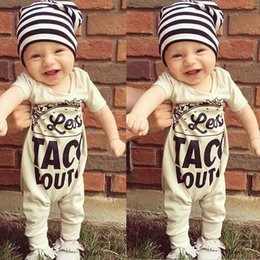 Wholesale Winter Bodysuits For Babies - Baby Toddlers Rompers Bodysuits Jumpsuits Onesies For Little Kids Boys Cotton Letter Short Sleeve T-shirt Rompers Jumpsuits One Piece Suits