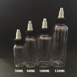 Wholesale E Cig Empty Bottles - E Cig Plastic Dropper Bottles With Twist Off Caps 30ml 50ml 60ml 100ml 120ml Pen Shape Unicorn Bottle Empty Pet Bottles For E-Liquid