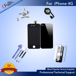 Wholesale 4g Iphone Screen - For iPhone 4G Full Complete Black LCD Screen Front Display Digitizer Glass Screen Assembly With Accessories & Free Shipping
