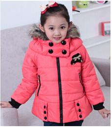 Wholesale Rabbit Fur Coat Outerwear - New 2017 baby girls cute Rabbit fur children coat outerwear cloer warm brand Cashmere parka jacket roupas meninasthing long wint
