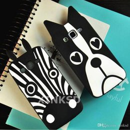 Wholesale Galaxy Pro Duos - Premium 3D Cartoon Animal Dogs and Zebra Silicone Phone Case Cover For Samsung Galaxy Grand Duos Win Pro Ace4 Grand Max Trend3 Grand Prime