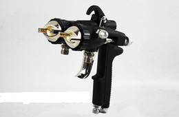 Wholesale Air Brush Spray Paint Gun - Two-component Spray gun air brush for chrome silver mirror and nano painting High Pressure Air Sprayer Gun free shipping