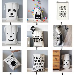 Wholesale Types Baby Animals - INS Home Storage Bags Popular Cartoon Animal Baby Toy Bags Kids Room Cute Decorate Outdoor Lovely Bear Batman Heart Bags