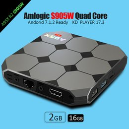 Wholesale Media Stream - Android Box TV A95X R2 Amlogic S905W Quad-core Smart TV Box 2GB 16GB HDMI2.0 4Kx2K HD 2.4G Wifi Streaming Media Player