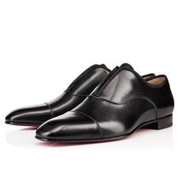 Wholesale Alpha Leather - Gentleman Party Bussiness Dress Red Bottom Alpha Male Sneakers Flat Oxford Shoes Perfect Luxury Men's Leisure Slip On Loafers Shoes