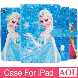 Wholesale Queen Dust - Smart Wake Leather Case for iPad 2 3 4 air air2 mini The White Snow Queen Anna Elsa tablet Cover with free gifts