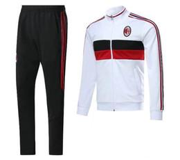 Wholesale Ac Promotions - 2016 Promotion Chuteiras De Futebol Top Quality 2017 Ac Milan Soccer Training Suit Sweatshirt And Pants Survetement Sweater Tracksuit Set