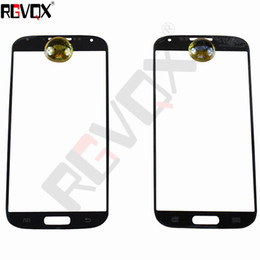 Wholesale S4 Mini New Screen - New Touch Glass For Samsung Galaxy S4 I9500 i9505 i337 For Front Screen Glass Lens Black White With Free Shipping Replacement Repair