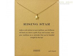 Wholesale rose gold star necklace - Rising star fashion pendant Dogeared Necklace For women Girls