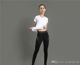 Wholesale Fitness Black Women - Tight pants female sports training fitness yoga pants stretch tight reflective printing