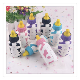 Wholesale Charms For Cellphones - New Slow Rising Squishies Cellphone Straps Kawaii Feeding Milk Bottle Pendant Bread Kids Toy Stretchy Phone Straps Charms Christmas Gift