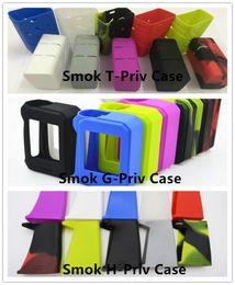 Wholesale Silicone Rubber Bag Case - Colorful silicon case protective skin sleeve bag wrap For Smok T-Priv G-Priv 220W Smok H-Priv 220W Ecigs TC Box Mod Silicone Case Rubber