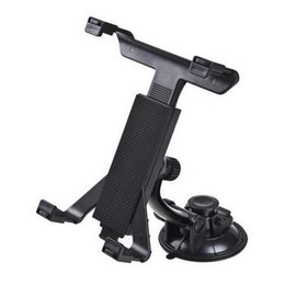 Wholesale Cup Holder Car Tablet - Wholesale- Black Tablet PC Stand Car Suction Cup Stand Holder for iPAD 7-11 inch
