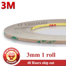 Wholesale Screen Roll 3m - Wholesale- 2016 1 Roll 0.06mm Thickness, 3mm*55 meters 3M 467MP 200MP Double Sided Sticky Tape, for LCD  Touch Screen Digitizer Adhesive