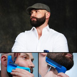 Wholesale Man Modelling - 2017 with package Beard Bro Shaping Tool Styling Template BEARD SHAPER Comb for Template Beard Modelling Tools 10 COLORS SHIP BY DHL