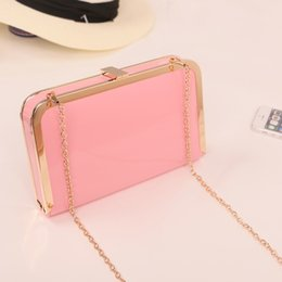 Wholesale Packaging Bags China - 2017 new women oblique cross package Korean fashion chain bag cute lady holding clip bag made in China
