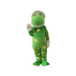 Wholesale Dorothy Dinosaur Mascot Costume - High quality Dorothy the Dinosaur Mascot Costume Popular Cartoon Character Costume Adult Fancy Dress Halloween carnival costumes