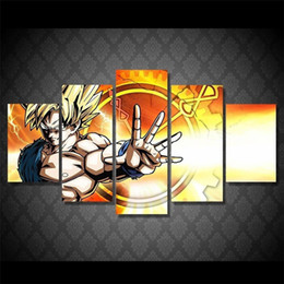 Wholesale Framed Comic - 5 Pieces. Dragon Ball Z Comic,Home Decor HD Printed Modern Art Painting on Canvas (Unframed Framed)