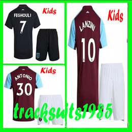 Wholesale Shorts Teen - BOYS Rugby 2017 2018 West Ham United Kids jerseys FEGHOULI CARROLL SAKHO AYEW 17 18 child teens jersey 10 or more free to send DHL