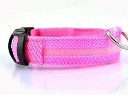 Wholesale Dog Flexible Collars Leashes - 2017 new style flexible length 35-60cm LED lamp dog collar with 7 colors strip light style flash light led dog leash