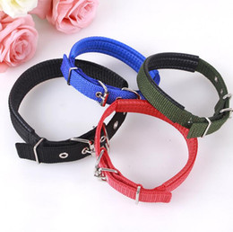 Wholesale Strap Big Dog - Comfortable Adjustable Nylon Strap Dog Collar For Small And Big Pet Dogs Collars 4 Color DHL free shipping
