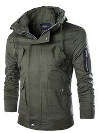 Wholesale Casual Cargo Jacket - Wholesale- New Short Windbreaker Jacket Men 2015 Fashion Design Mens Slim Fit Windproof Jacket Brand Stylish Cargo Jacket