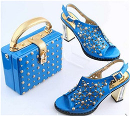 Wholesale Matching Handbag Shoes - 2017 new fashion Italian Shoes With Matching Handbag set High Quality Italy shoes For lady Free Shipping!