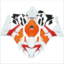 Wholesale Orange White Motorcycle Fairings - 3 free gifts For Honda CBR1000RR 06 07 1000RR 2006 2007 ABS Plastic ABS Injection Motorcycle Full Fairing Kit Orange white A19