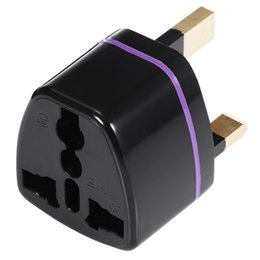 Wholesale Uk Standard Adapter - Universal Travel Adapters AU US EU UK Standard Plug Wall Charge Socket Power Adapter Connectors Free Shipping