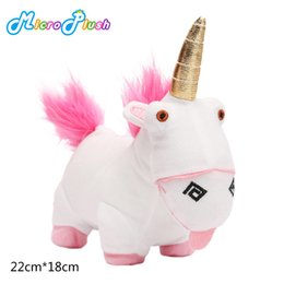 Wholesale Despicable Sleep - Unicorn Plush Toy Despicable ME children sleep Baby Doll birthday gift 22CM Length Cute Lovely Movie Mouse Christmas New Year Party white