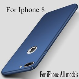 Wholesale silm phone - For iPhone 8 5S SE 6 6S 7 i8 i7 i6 Plus phone case Silicone scrub cover Luxury Silm Hard Frosted PC Back Cover Cases For IPhone 8
