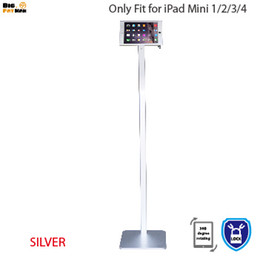 Wholesale Ipad Mini Aluminium Case - Wholesale- Fit for iPad 360 rotating Kiosk Mount floor stand metal case frame security with lock holder for iPad mini 4 tablet pc stand