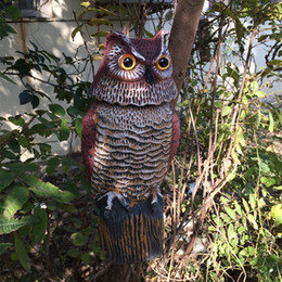 Wholesale Plastic Garden Ornaments - ZILIN factory free shipping wind-action owl decoy plastic rotating head owl garden ornament and defence bird repellent