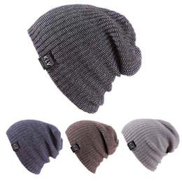 Wholesale Hat Skate - Unisex Famous Brand Men Women Skiing Warm Winter Knitting Skating Skull Cap Hat Beanies Turtleneck Cap Ski Cap Snowboard DM#6