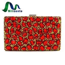 diamond clutch bag colorful Promo Codes - Wholesale- Milisente Women Evening Bags Ladies Colorful Clutch Bags Female Party Clutches