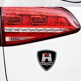 Crachá sintonizado on-line-Etiqueta do carro Emblema Emblema para VW Golf Sagitar CC Wolfsburg Liga de Alumínio Tuning Auto Car Styling Acessórios Da Motocicleta
