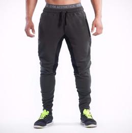 Wholesale Workout Pants Wholesale - Wholesale- New Brand Men Pants Gymclothing Joggers Tracksuits Men Trousers Slim Fit Workout Pants Male Sweatpants
