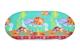 Wholesale Bath Mats For Kids - Wholesale- Bath Mat PVC Material Hippo Cartoon Design Non slip Mat Summer Item for Kids Bathroom Free Shipping