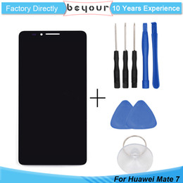 Wholesale Digitizer Ascend - LCD Display Touch Screen Digitizer Assembly for Huawei Ascend Mate 7 AAA Grade Repair Tools Free