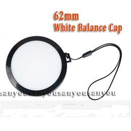 Wholesale Digital Lenses Filter - Wholesale- wholesale-62mm White Balance Lens Cap with WB Filter Mount for Digital Camera Filter Lens