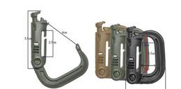 Wholesale Clip Keyrings - 300 pcs Molle Tactical Backpack EDC Shackle Carabiner Snap D-Ring Clip KeyRing Locking