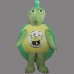 Wholesale Tortoise Mascot Costume - Sea Animal Green Turtle Mascot Costume Tortoise Fancy Party Dress Halloween Carnival Costumes Adult Size High Quality free shipping