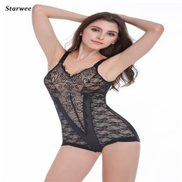 Wholesale Girly Lingerie - Wholesale- New Arrival Lace Bodysuit Sexy Lingerie Ultrathin Postpartum Abdomen Waist Corset Hip Girly Breast Care Hot Shapers JY 1064