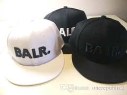 Wholesale White Leather Hat - 2016 hats for Men&Women balr New Arrival Balred caps leather buckle PU metal adjustbale buckle Baseball sport Cap Hip Hop hat free ship