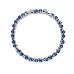 Wholesale European Beads Swarovski - New Fashion 18K White Gold Plated Austrian Crystal Beads Bracelet for Women Made With Swarovski ELements Wedding Jewelry Nice Gift