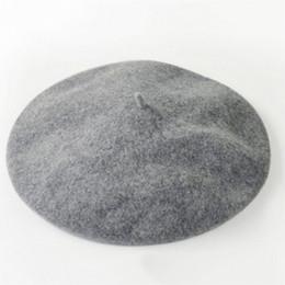 All'ingrosso- Moda calda di colore solido lana calda Inverno Donna ragazza berretto francese artista Beanie Hat Ski Cap per accessorio femminile moda Chistmas da
