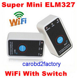 Wholesale Obdii Iphone Wifi - Factory Wholesales----MINI ELM327 WIFI ON OFF Switch V1.5 OBDII ELM 327 CAN-BUS interface for IOS iPhone iPad Android with DHL free shipping