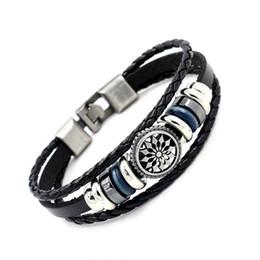 Wholesale Porcelain Gifts For Men - Fashion Jewelry Punk Harajuku Charm bracelets for men Retro ceramic multi-element beads Genuine Leather bracelets for women Gift 2 colors