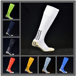 Wholesale Long Black Socks - TOP Quality Professional Anti Slip Soccer Socks Football Socks Non Slipping Sport Sock Running Socks AntiSkid Long Stocking Trusox Style