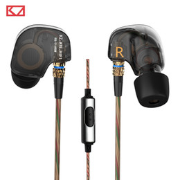 Wholesale 100 Original KZ ATE mm In Ear Earphones Stereo Sport Earphone Super HIFI Bass Noise Isolating With Mic Support